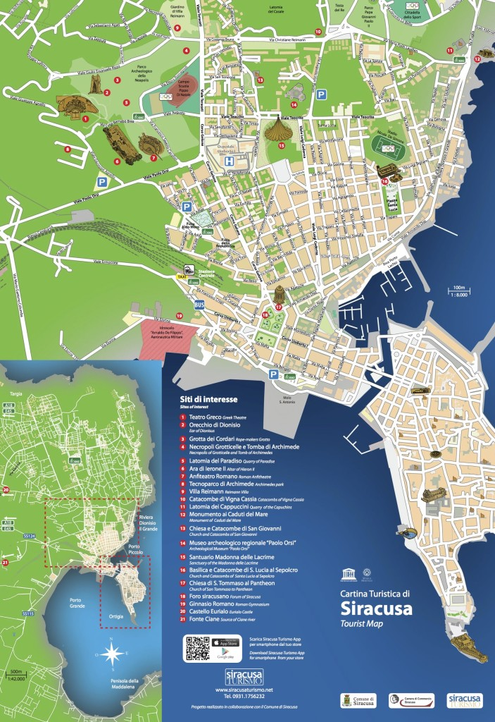 La Gorgone Ortigia Apartments Map